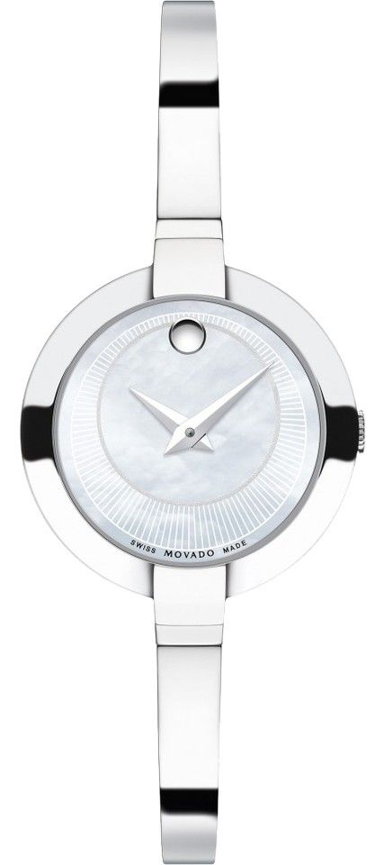 Movado Movado 0606616 Bela White Mother of Pearl Women's Bangle Watch