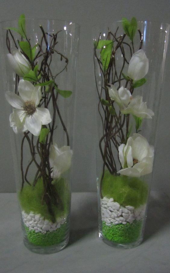 Vaas met takken en deco decoratie pinterest bloem met en bloemen - Decoratie eenvoudig voor het leven ...