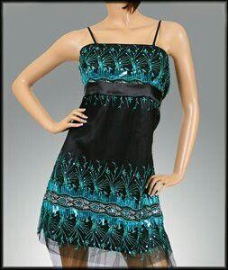 Black and aqua dress $20.00