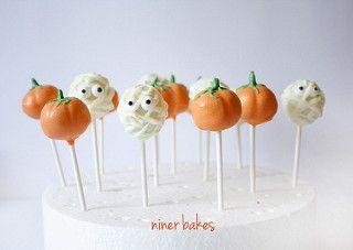 Halloween Pumpkin & Mummy Cake Pops