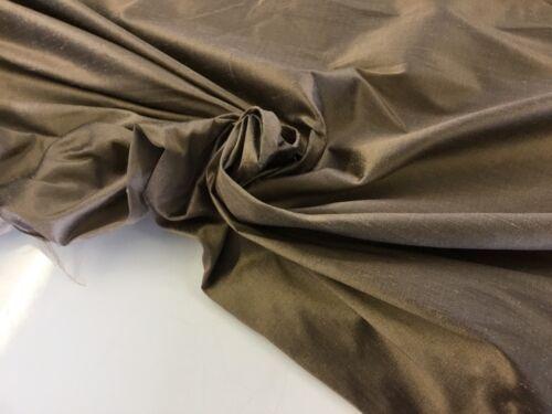 """New Champagne Colour 100/% Silk Dupion Slub Fabric 54/"""" 138 cm For 1//5 Half Metre"""