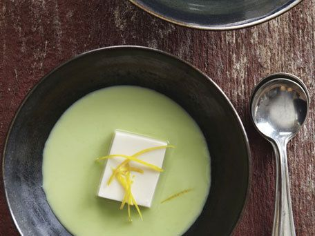 Soup Recipes - Silken Tofu And Edamame Soup (Edamame No Surinagashi)