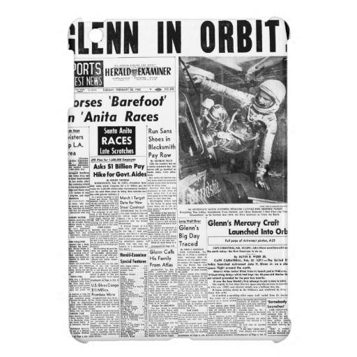John Herschel Glenn in Orbit Space News NASA iPad Mini Covers