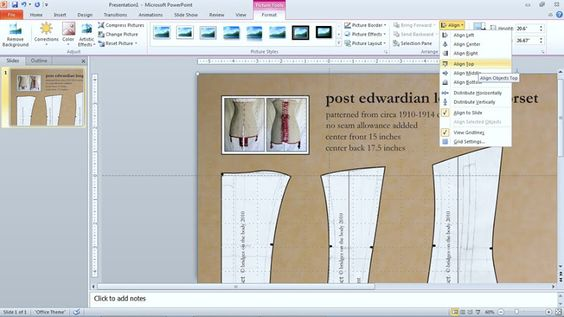 Enlarge a sewing pattern with PowerPoint