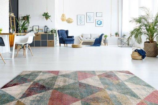 Dywan Miekki Geometryczny Wzor 160x230 Trojkaty 7131126997 Oficjalne Archiwum Allegro Contemporary Rug Home Decor Decor
