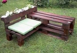 Risultati immagini per panca di legno portafiori fai da te for Disegni e piani di mobili da giardino