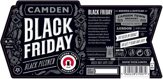Camden Town Brewery Black Friday Label