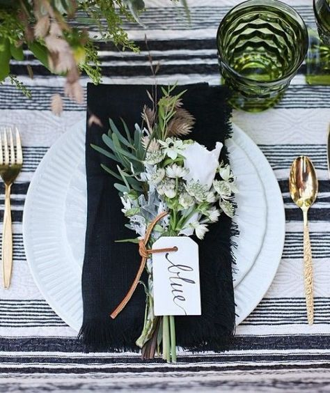 Dark Wedding Table Inspiration