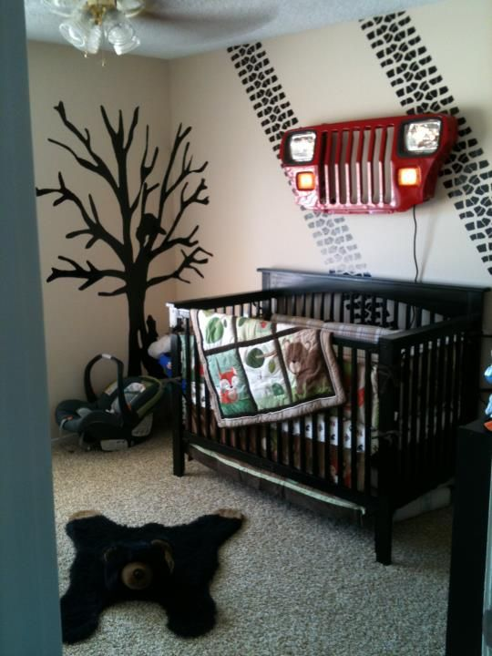 Awesome re pinned by jeep themed for Cool boy nursery ideas