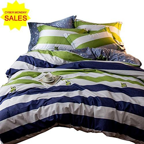 Otob Striped Bedding Sets Queen Duvet Cover Sets Multi Colored 3 Piece For Kids Boys Teens Adults With 2 Pillow Duvet Cover Sets Queen Duvet Covers Queen Duvet