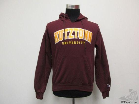 Champion Kutztown University Golden Bears Hoodie Sweatshirt sz S Small SEWN NCAA #Champion #Hoodie #tcpkickz