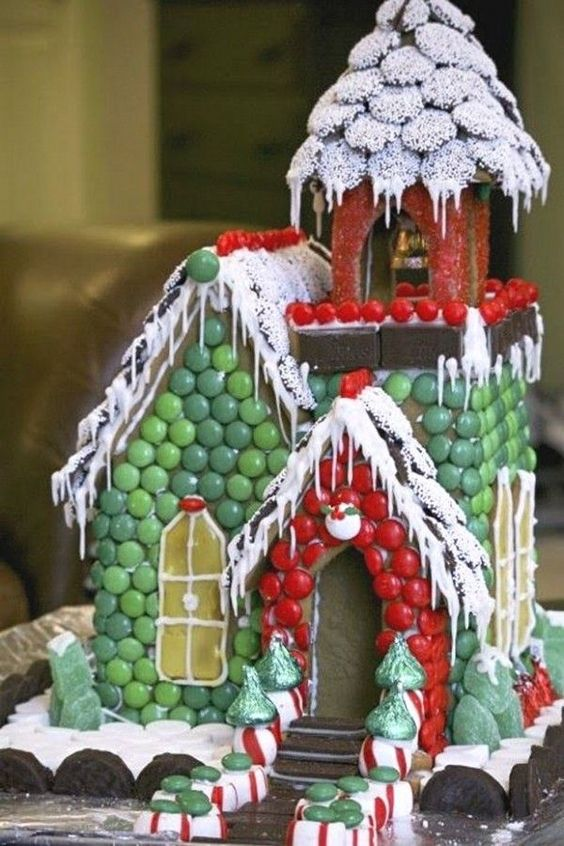 Simple-Inspiring  Gingerbread House Ideas-13