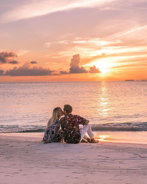 Sunset Couple in the Maldives