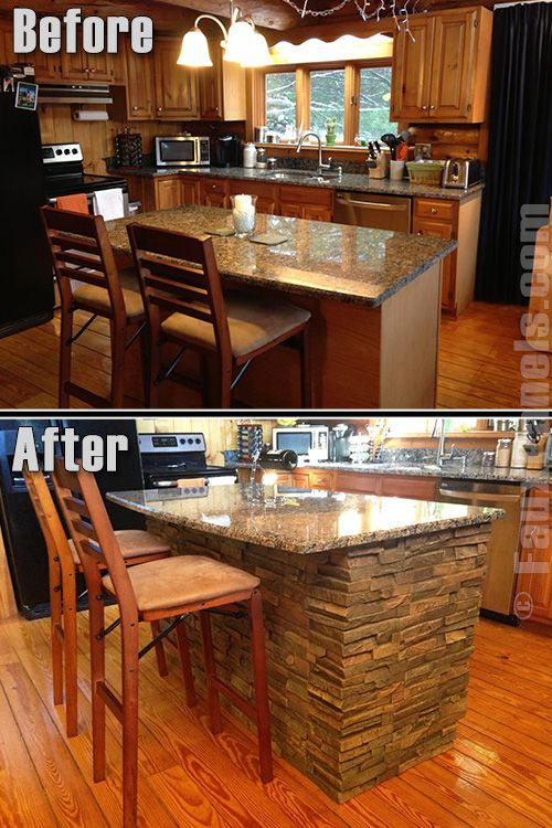Faux Stone Kitchen Island