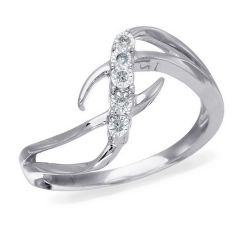 10K White Gold, Diamond Accent Fashion