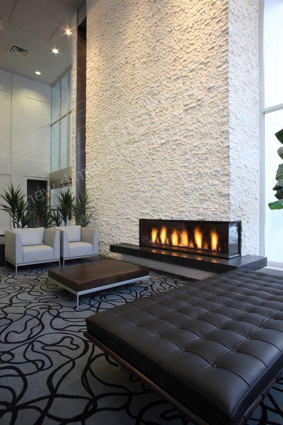 Ivory Norston Rock Panels Fireplace Veneer Markhowerton Home Pinterest Electric Fires