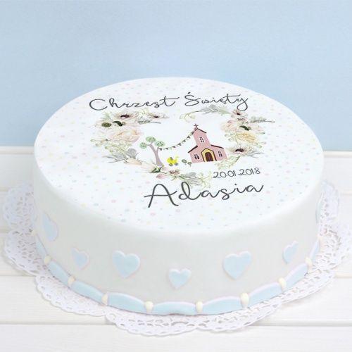 Oplatek Personalizowany Na Tort Sakramento O 20 Chrzest Swiety Desserts Cake Food
