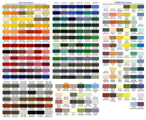 Ral Chart Design Resources Colour Names Pinterest