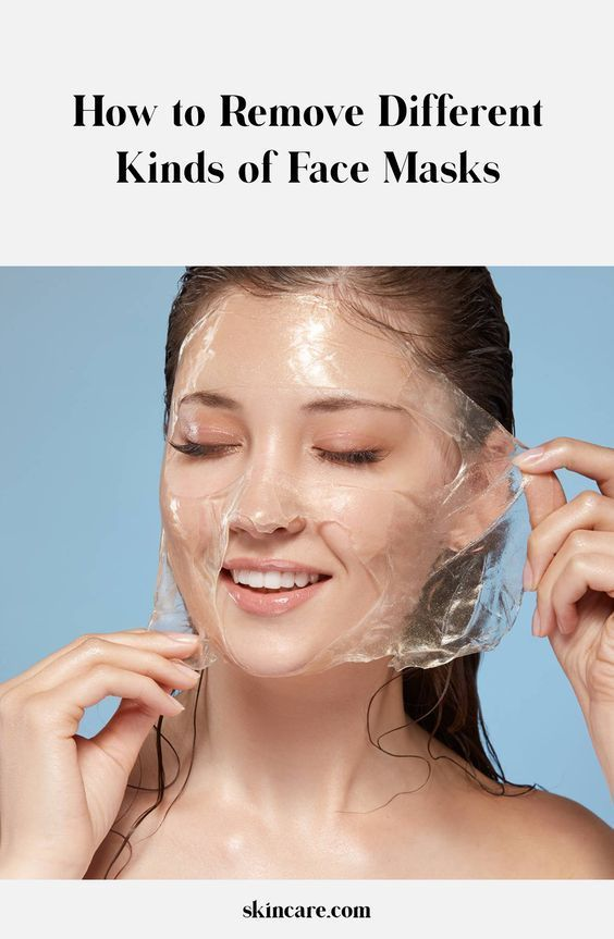 How To Remove Different Kinds Of Face Masks Gel Face Mask Face Mask Rubber Face Mask