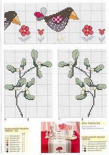 Punto de Cruz GRATIS: Manteles: Cross Stitch, Cross Stitch, O'Clock, Cross Stitch Embroidery, Table, Cross Stitches, Cross