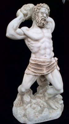 Ancient Greek Mythology one eye Giant Cyclops sculpture