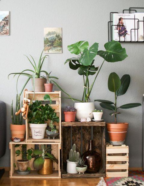 20 idées déco avec des cagettes en bois   Living rooms ...