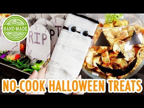3 Easy NO-COOK Halloween Treats - HGTV Handmade - YouTube