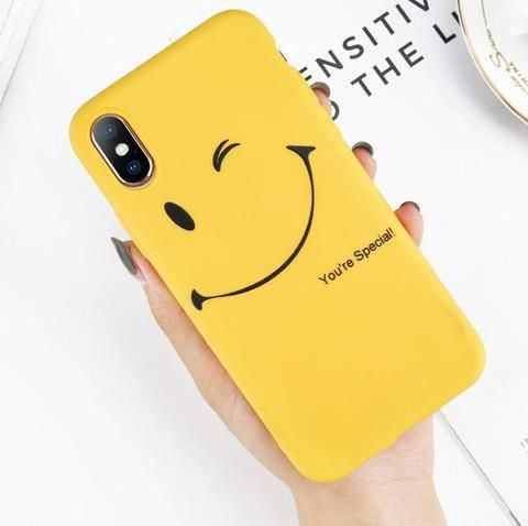 Lovebay Cute Smile Emoji Phone Case For Iphone X 8 7 6 6s Plus Funny Letter Soft Tpu Silicone Cover Case For Ip Emoji Phone Cases Cute Phone Cases Phone Cases