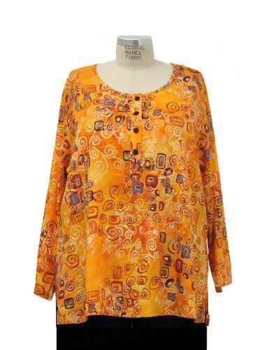 Amazon.com: We Be Bop Plus Size Metro Indian Tunic: Clothing