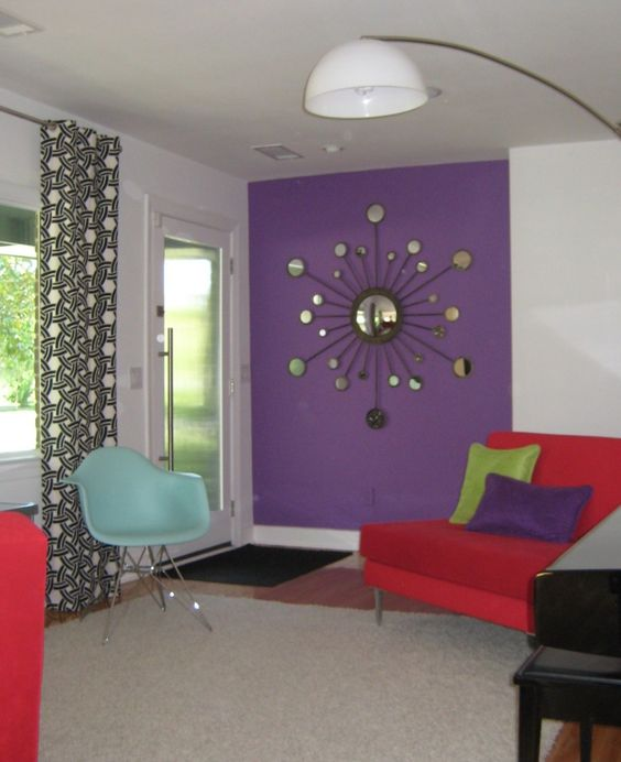 Purple Bedroom Designs With Lavender Color Walls With Red