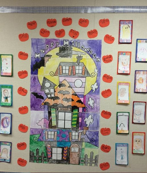 Collaborative Classroom Games ~ Halloween activities collaboration door poster