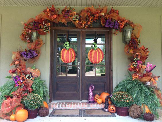 Halloween / fall  door