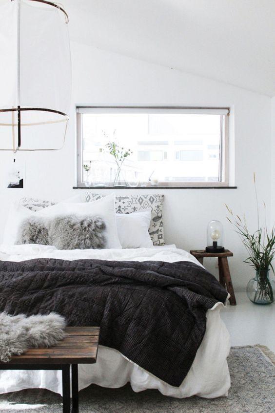 How to create a cozy home the scandinavian way - Scandinavian interior design bedroom ...