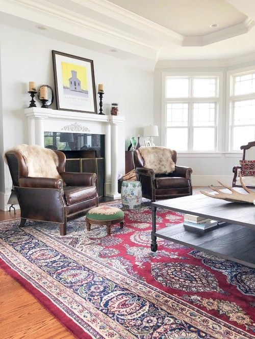 Eclectic Maine Home Tour Town Country Living Oriental Rug Living Room Red Oriental Rug Living Room Decor Traditional