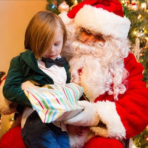 Oliver with Santa on The Boyish Girl