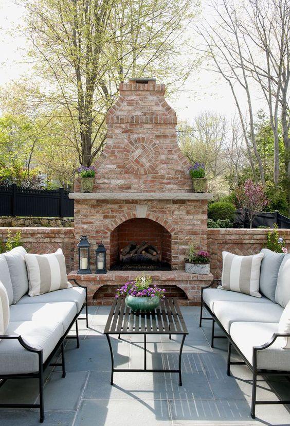beautiful patio with fireplace | Morgan Harrison Home: