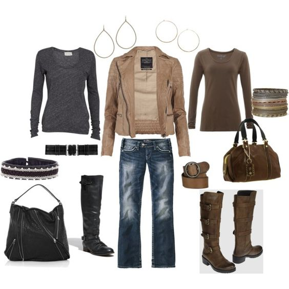 Outfit: Outfits Cuteness, Weekend Outfits, Dream Closet, Cute Outfits, Brown Options, Options Created, Options Polyvore, Cute Clothes, My Style