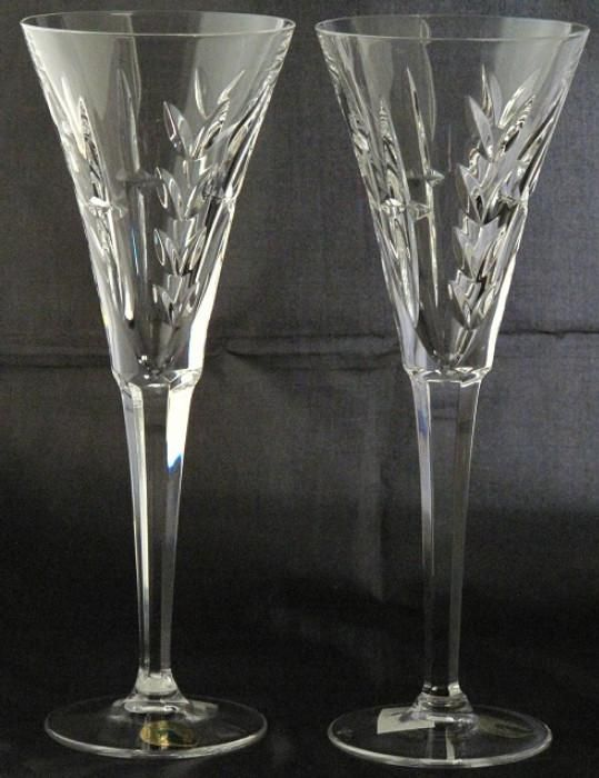 Waterford Special Edition Millennium Lincoln Toasting Flutes. (1996-2005)