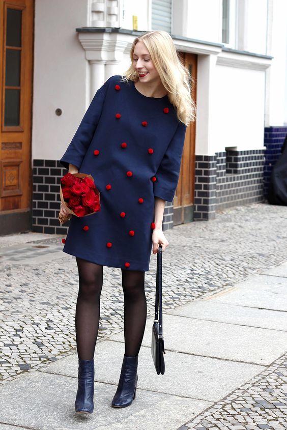 embellished pompom dress