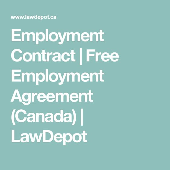 Employment Contract  Free Employment Agreement Canada