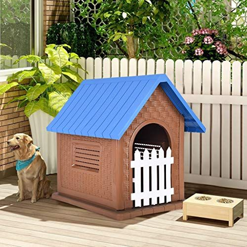 Waterproof Outdoor Pet Dog House Outdoor Indoor Dog Cat Puppy