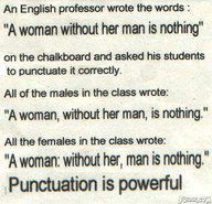 Punctuation is Powerful. Grammar is important people!