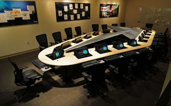 Each Of The Conference Rooms Has A Computer Display