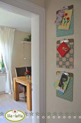www.topp-kreativ.de - Home Decoration, Nähen - Entdeckung der Woche: Klemmbrett mit Lieblingsstoffen