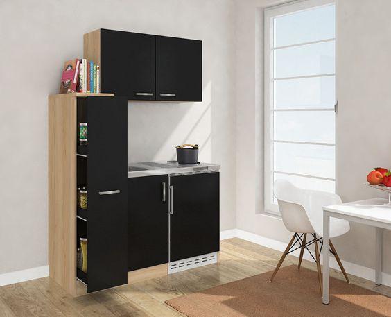 details about respekta mini kitchen kitchenette 130cm with upper