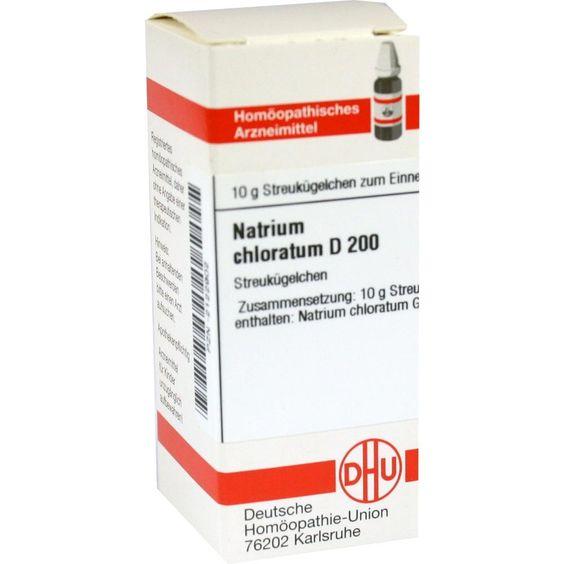 NATRIUM CHLORATUM D 200 Globuli:   Packungsinhalt: 10 g Globuli PZN: 02122902 Hersteller: DHU-Arzneimittel GmbH & Co. KG Preis: 9,59 EUR…