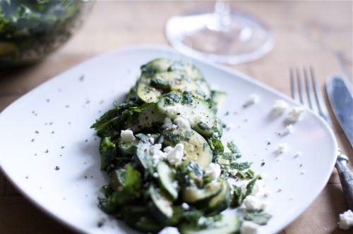 Zucchini-Minz Salat