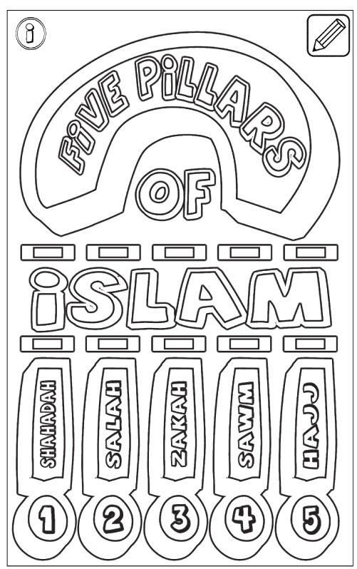 5 Pillars Of Islam Coloring Page With Images Pillars Of Islam