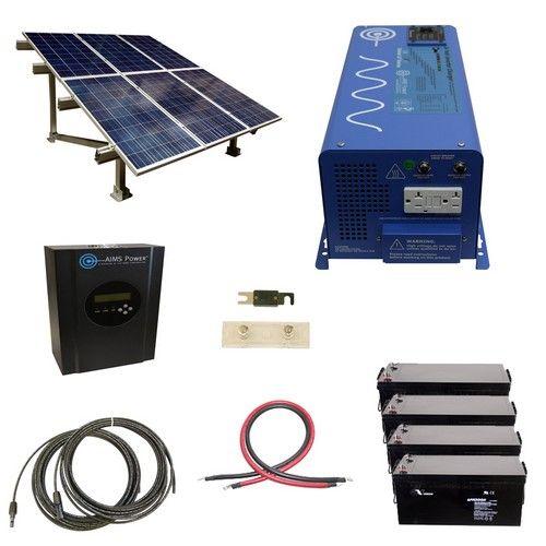 1440 Watt Off Grid Solar Kit With Solar Rack And 2000 Watt Power Inverter Charger 24 Volt Energia Alternativa Sensible Energia