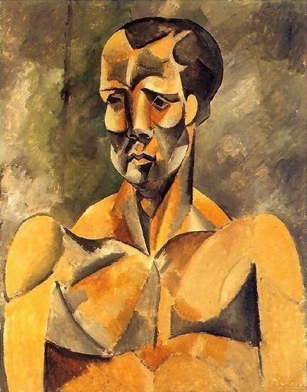 """Pablo Picasso - """"Buste d`homme (L`athlete)"""". 1909. MASP (Museu de Arte de São Paulo Assis Chateaubriand), Brazil."""